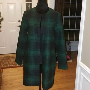 Very gently used,Black and green plaid jacket